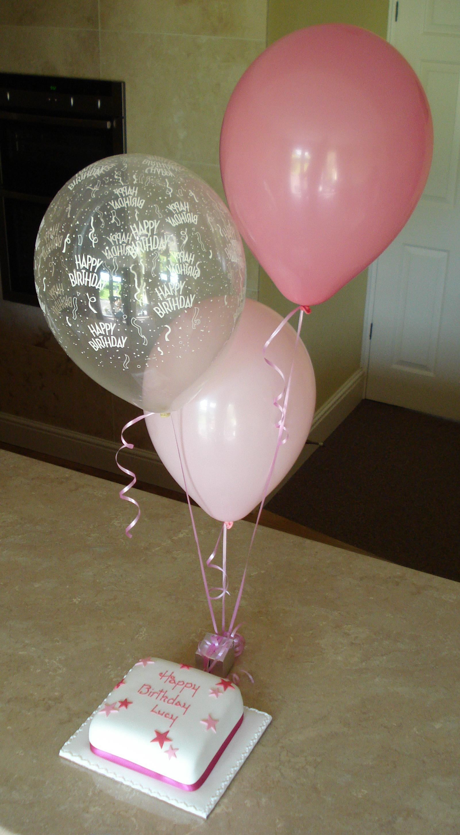 Cake and balloon packages